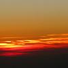 Sunset on the flight back home