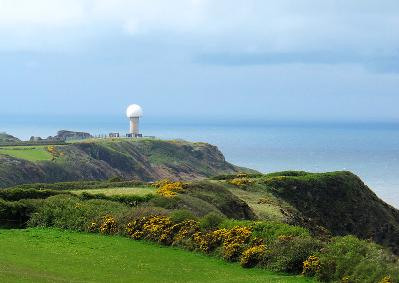 Looking like a giant golf ball on a tee, this is the radar station on West Titchbury Cliff.