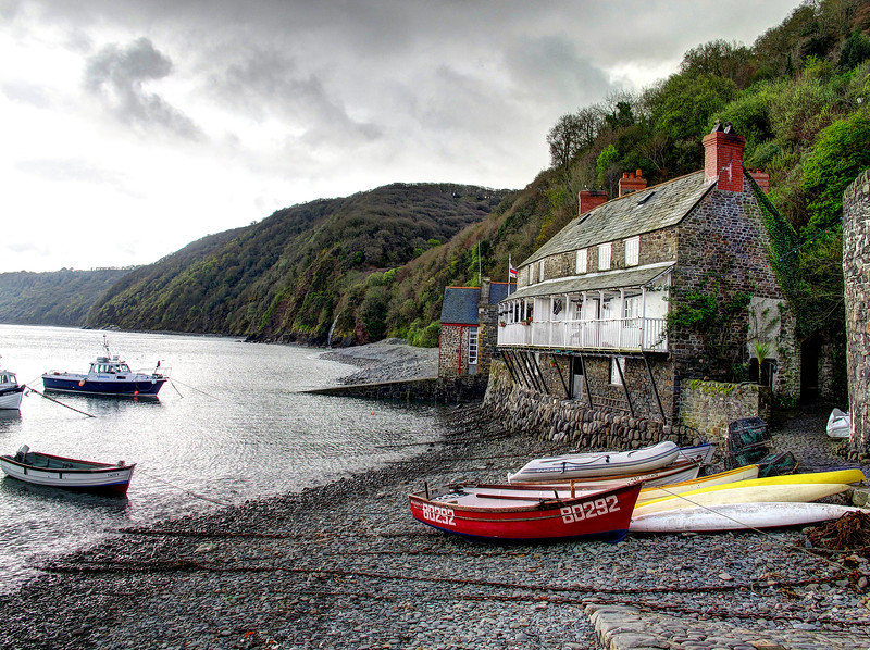 Clovelly - I wouldn't like to be in one of these houses during a storm!