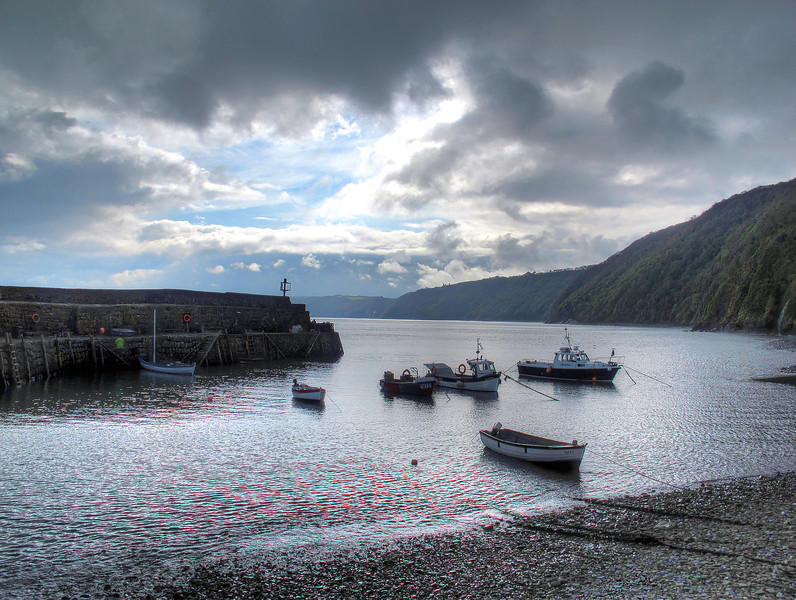 Morning at Clovelly.