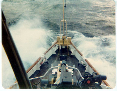 Rough seas in the North Atlantic.