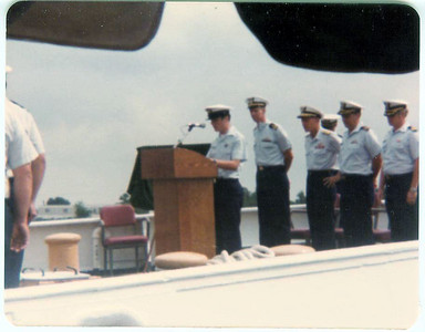 Change of command ceremony, 1977 (?)