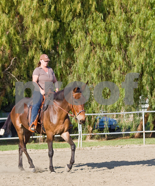 Pearlie practices for the trail class.