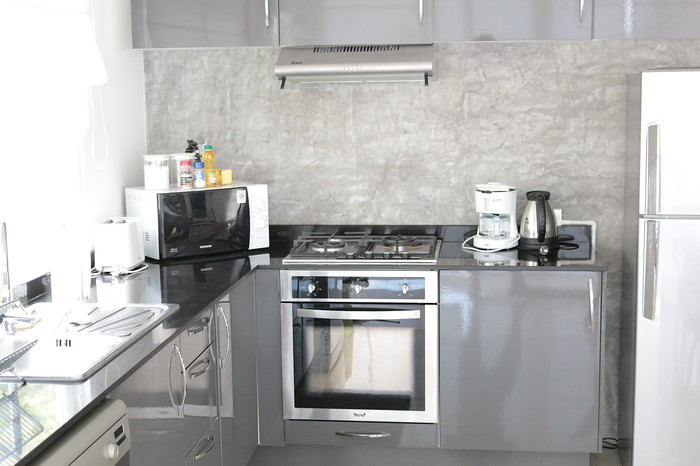 Fully Equipped kitchen in the one bedroom seaview villa Koh Lanta