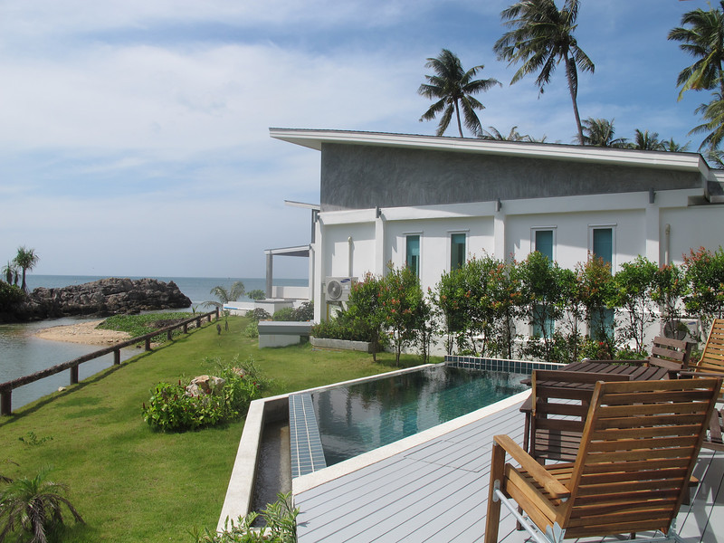 Ocean and river views from the one bedroom seaview villa, Koh Lanta