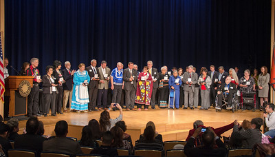 The Silver Medal Ceremony at the Smithsonian National Museum of American Indian.