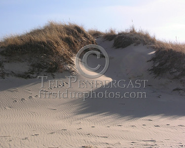 Prints In The Sand - Dunes At Cold Storage Beach - Christmas Day 2005 - Dennis,Mass. - Cape Cod