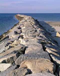 Jetty At Sesuit Harbor Entrance - Christmas Day 2005 - Cold Storage Beach - Dennis,Mass. - Cape Cod
