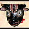 #131 (5) - Bull mask from Chiapas - purchased 7/4/2003 at Victor's Arte in Mexico City from Pilar Fosada