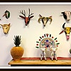 Collection of 9 vintage wooden animal masks from Mexico - all thought to have been danced - sold as a group for $2,495.00
