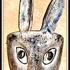 #133 (2) - Rabbit mask or Conejo danced in the Danza de los Conejos where it was made in Xaxacualco Zumpango del Rio, Guerrero, it was 30 years old when we purchased it 12/29/03 from Bill Levasseur at Casa de la Cuesta in San Miguel de Allende