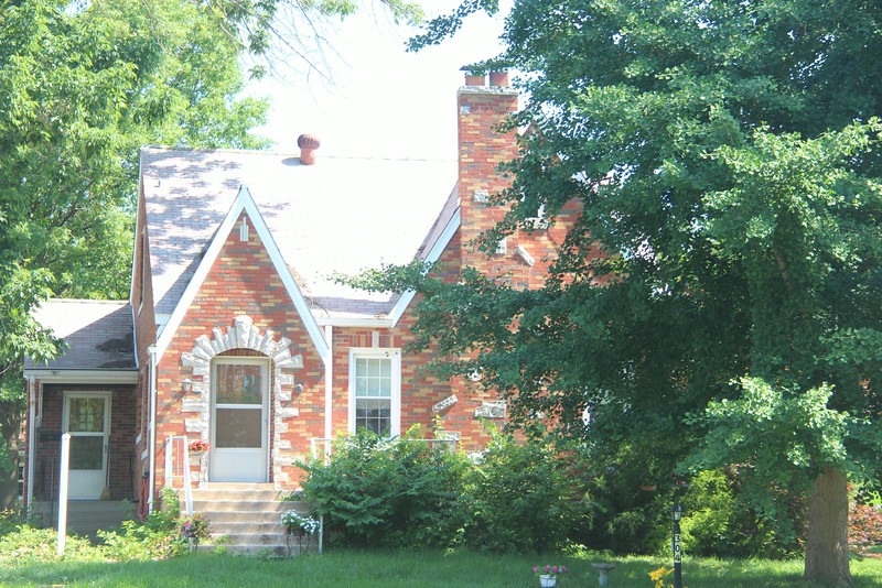 304 E. Market St. - Troy, IL:  Built by William S. Schmitt, the Chevrolet Dealer in Troy, the house dates to 1933.   May parents bought the home in 1962 and it was sold to the current owner in 2011.