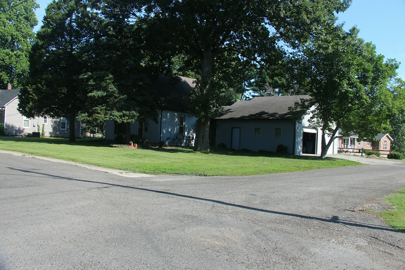 This photo shows the home of John H. & Ethel W. Collins at 210 E. Bryn Street - Troy, IL.  To the far left is the home which the Collins' sold to Arnim & Esther Keck during the Depression.