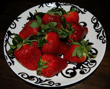 Katie's plate of strawberries