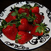 Katie's plate of strawberries