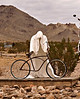 Ghost Biker, Sculpture, Rhyolite