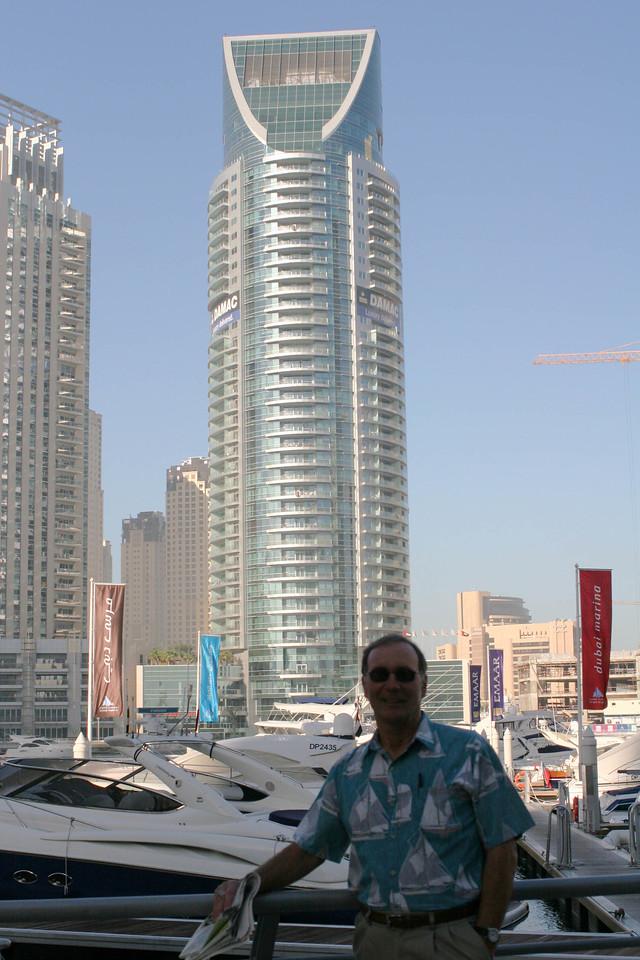 Steve B at the Dubai Marina