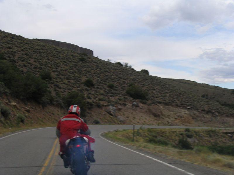 Tom riding Old Smokey
