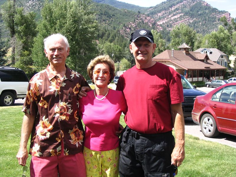 Jerry, Jayne, and me of course at Redstone Colorado Saturday July 30, 2005
