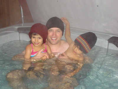 Hot tubbing on a cold Colorado day