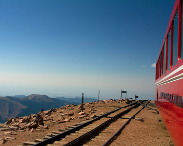 Train at the top of Pikes Peak