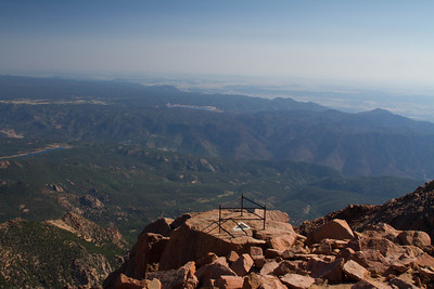 North view from the top of Pikes Peak