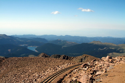 South view from the top of Pikes Peak