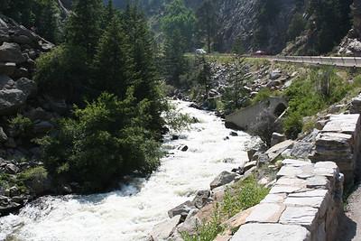 Colorado Boulder Creek waterfall