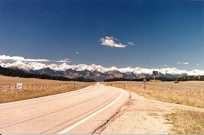 Sangre de Cristo mountains near Westcliffe CO