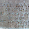 The inscription on the John Brown memorial.