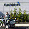 A Garmin employee who was leaving for the day was kind enough to take this for me. Heh, look how clean the bike is.