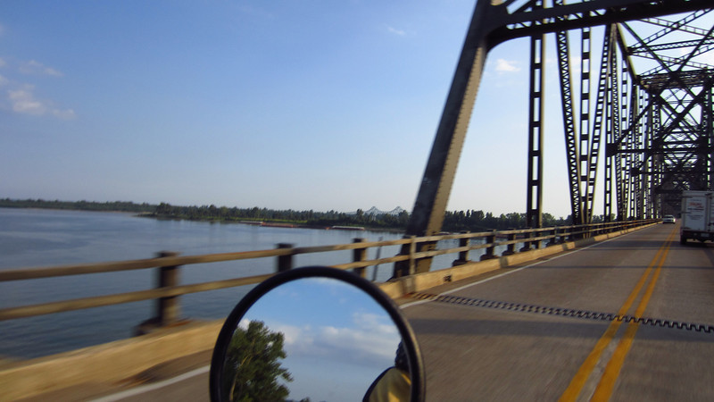 Crossing the Mississippi near Cairo, Il