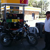 I ran into the caretaker of Black Canyon of the Gunnison at a gas station just outside the park. He rides a TW200 and carries his dog in a milk crate.