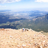 The view from Pikes Peak. Don't trip - it's a long way down.
