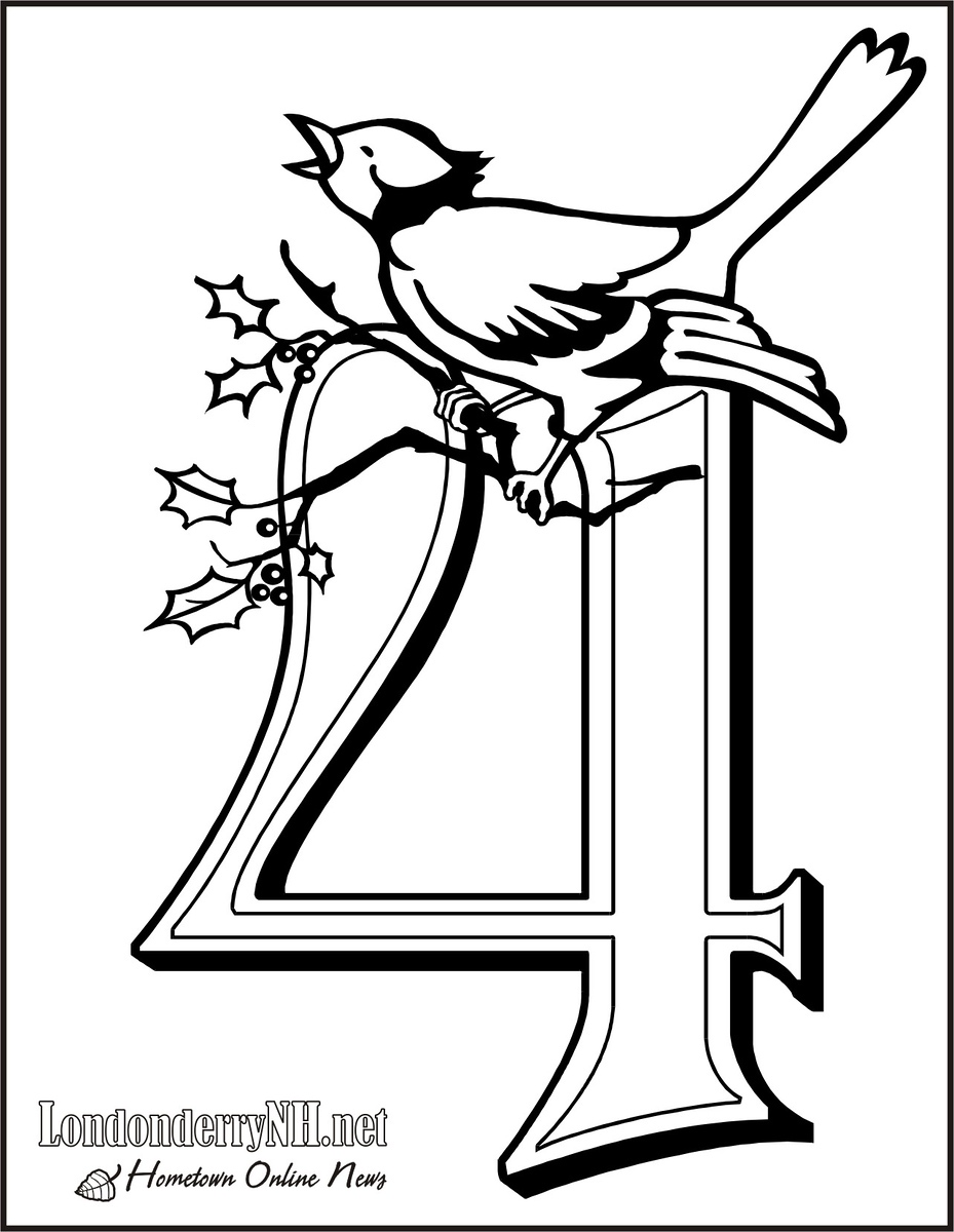 The 12 Days Of Christmas Coloring Book Edition Londonderry News