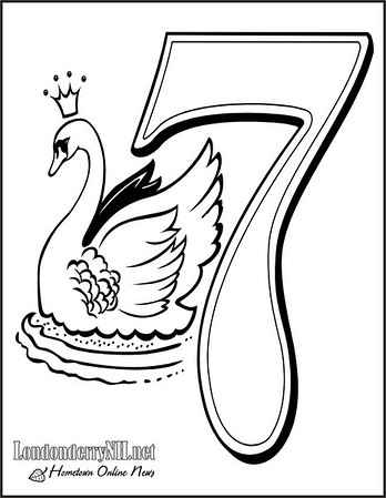 The 12 Days Of Christmas Coloring Pages And History Visit Londonderry
