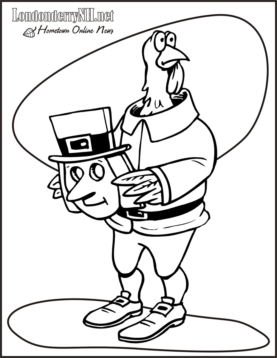 30+ Thanksgiving Coloring Pages - Free Printables | 600x465