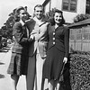 "From the back of the photo: ""Received Thurs July 23, 1942 Ft. Bragg, NC<br /> <br /> Shirley, Jesse, and Dotty"
