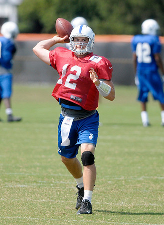 Don Knight/The Herald Bulletin<br /> Colts Camp on Tuesday.