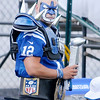 Don Knight/The Herald Bulletin<br /> This fan came dressed for the occasion during Colts Camp on Wednesday.