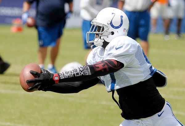 Don Knight/The Herald Bulletin<br /> Colts Camp on Wednesday.