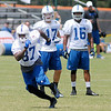 Don Knight/The Herald Bulletin<br /> Reggie Wayne runs a route during drills at Colts Camp on Friday.