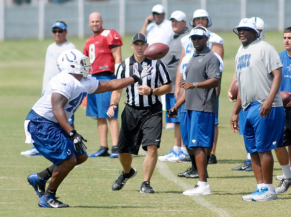 Don Knight/The Herald Bulletin<br /> Colts Camp on Friday.