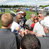 Wide receiver Reggie Wayne speaks to the media on Friday.
