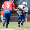 Colts practice at AU on Wednesday.