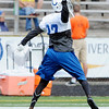 Reggie Wayne makes a one handed catch as the Colts finished up camp at Anderson University on Friday.