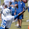 Don Knight/The Herald Bulletin<br /> The Colts practice at Anderson University on Thursday.
