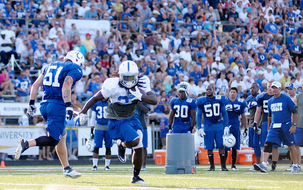 Colts camp on Tuesday.