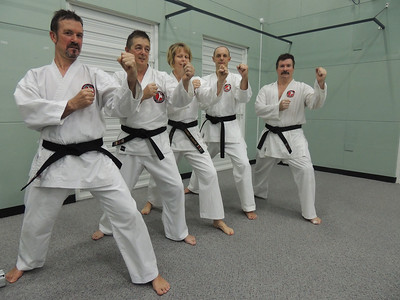 First Combat Karate Noosa Black Belt Grading - All Passed to 1st Dan! WELL DONE Garry, Joe, Nigel & Andy with Sensei Patricia