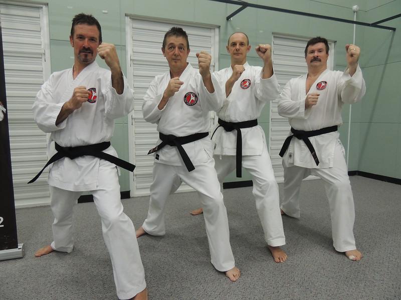 First Combat Karate Noosa Black Belt Grading - All Passed to 1st Dan! WELL DONE Garry, Joe, Nigel & Andy